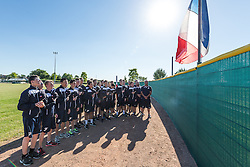 Team France respecting 1 minute of silence after the 14th of July terrosist attack, 15U Euro 2016.