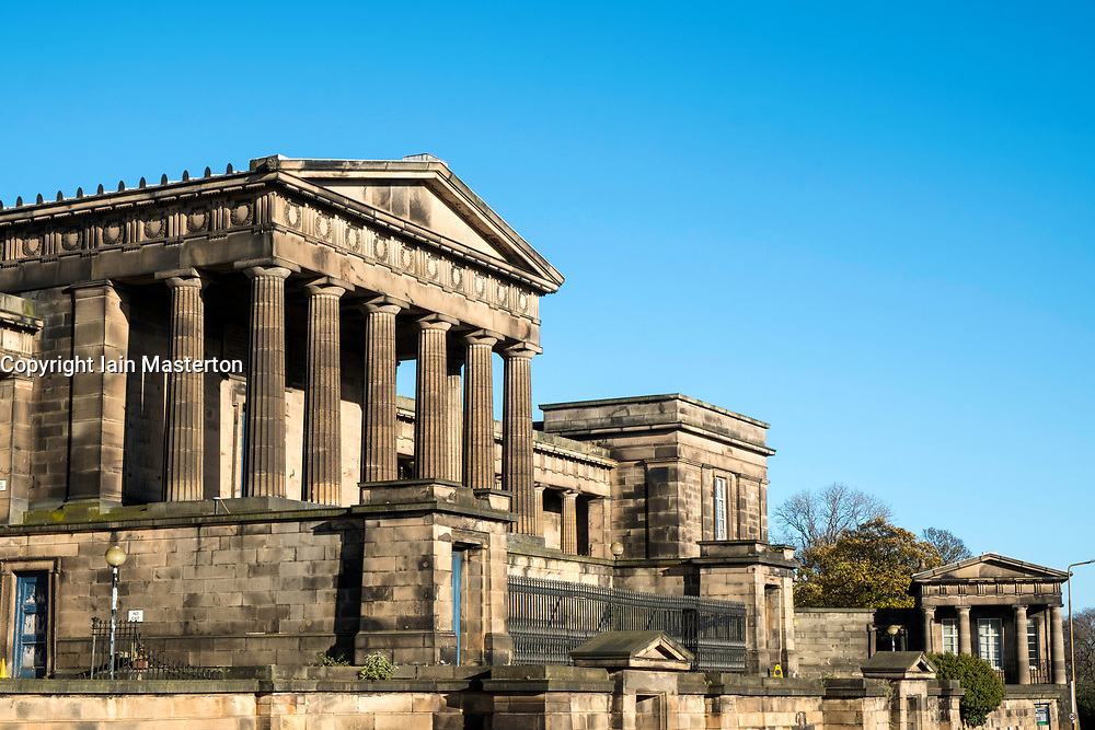 Edinburgh Old Royal High School or New Parliament Building on Calton Hill in Edinburgh, Scotland, United Kingdom