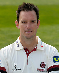 Somerset's Jim Allenby - Photo mandatory by-line: Harry Trump/JMP - Mobile: 07966 386802 - 17/03/15 - SPORT - Cricket - Somerset Press Call - The County Ground, Taunton, England.