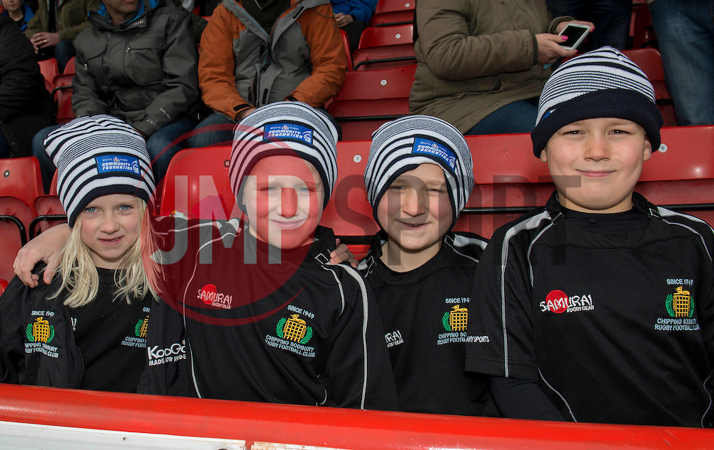 Bristol Rugby fans - Photo mandatory by-line: Dougie Allward/JMP - Mobile: 07966 386802 - 29/03/2015 - SPORT - Rugby - Bristol - Ashton Gate - Bristol Rugby v Bedford Blues - Greene King IPA Championship