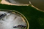 Nederland, Gelderland, West-Betuwe, 13-05-2019; overnachtingshaven Haaften, rivier de Waal met strekdam. <br /> Overnight port.<br /> luchtfoto (toeslag op standard tarieven);<br /> aerial photo (additional fee required);<br /> copyright foto/photo Siebe Swart