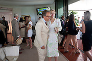 EARL OF MARCH; COURTNEY LOVE IN THE DUKE OF RICHMOND BOX, Glorious Goodwood. Ladies Day. 28 July 2011. <br /> <br />  , -DO NOT ARCHIVE-© Copyright Photograph by Dafydd Jones. 248 Clapham Rd. London SW9 0PZ. Tel 0207 820 0771. www.dafjones.com.