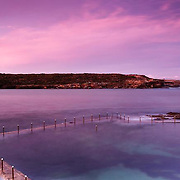 Sunset over Malabar pool in Sydney <br />