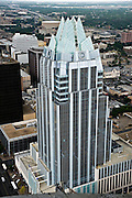 The Frost Building as seen from the Austonian building, July 6, 2009.  The Austonian is the tallest building in Austin.