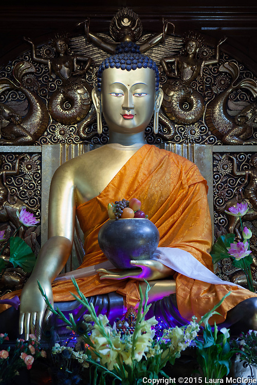 Buddha statue at Jamyang Buddhist Centre, London, UK