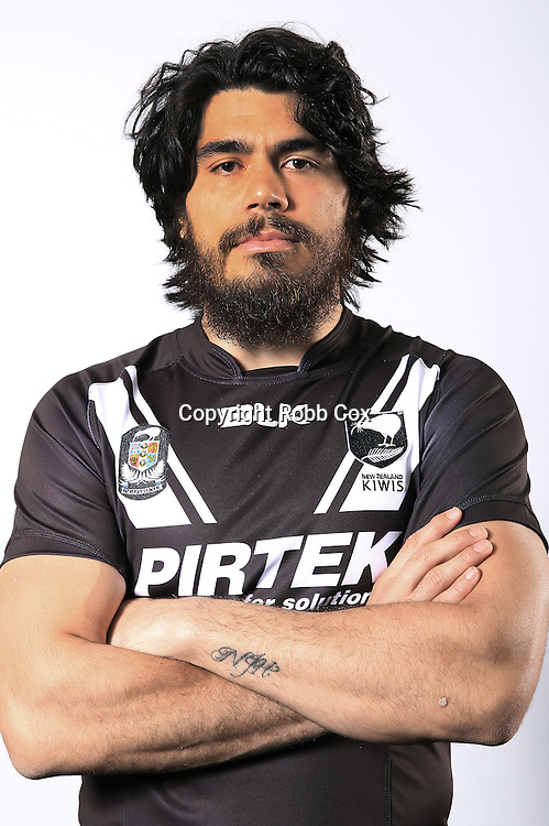 Tohu Harris.<br /> New Zealand Kiwis headshots taken ahead of the 2016 October Rugby League test match against the Kangaroos.<br /> 9 October 2016.<br /> Copyright photo: Robb Cox.