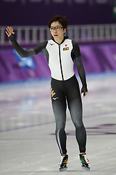 February 18, 2018 - Gangneung, South Korea - Gold medal winner NAO KODAIRA of Japan celebrates after Speed Skating: Ladies' 500m at Gangneung Oval at the 2018 Pyeongchang Winter Olympic Games. (Credit Image: © Scott Mc Kiernan via ZUMA Wire)
