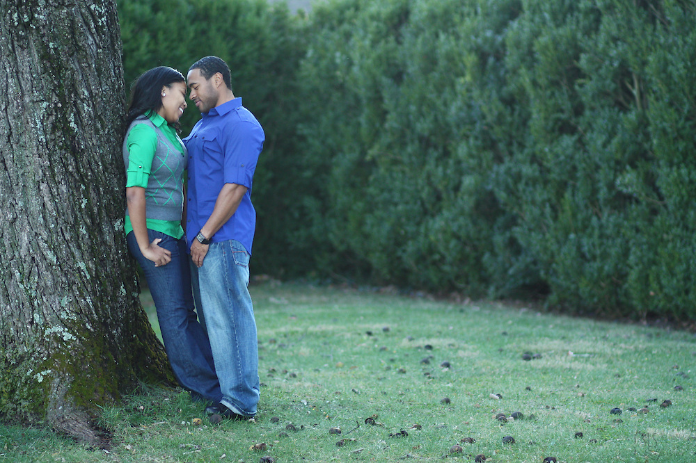 Ashley & Brandon's Engagement Portraits at Ash Lawn