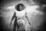 Nyapala Morgan was born in the bush in Patjarr (Karliywara), in the Gibson Desert. <br />  &ldquo;When I was young, my mother took me from rockhole to rockhole. We survived on bush food, digging the wichetty grub. We used to sit down under the &lsquo;wilja&rsquo; with my sisters, brother and my parents. In those days, we ran around naked. One night, I thought someone was throwing a spirit with a light or a flame, but it was the lights coming from a car. I saw white fellas. I was worried of being grabbed. They were standing around taking photos. It was the first time I saw white fellas&rdquo;.<br /> <br /> Extract from recorded interview with Nyapala Morgan in Wiluna on 11 March 2016