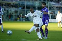 Firenze 07-11-2004<br />Campionato  Serie A Tim 2004-2005<br />Fiorentina Inter<br />nella  foto Adriano<br />Foto Snapshot / Graffiti