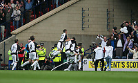 Photo: Andrew Unwin.<br /> Hearts v Gretna. Tennants Scottish Cup Final. 13/05/2006.<br /> Gretna celebrate their equaliser.
