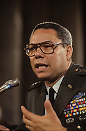 Chhairman of the Joint Chiefs of Staff, General Colin Powell testifies at a senate hearing.Photograph by Dennis Brack bb26
