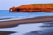 Beach along the Gulf of St. Lawrence and cliffs of red soil