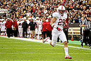 November 3, 2012:  Stanford Cardinal safety Ed Reynolds (29) runs into the end zone for a pick 6 after intercepting a pass by quarterback Jordan Webb (4) during the NCAA Football game between the Stanford Cardinal and the University of Colorado Buffalos at Folsom Field in Boulder, CO