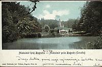 Maksimir kraj Zagreba = Maksimir près Zagreb (Croatie). <br /> <br /> ImpresumZagreb : Naklada Jul. Hühna, [1902].<br /> Materijalni opis1 razglednica : tisak ; 9,3 x 14,4 cm.<br /> NakladnikJulije Hühn<br /> Mjesto izdavanjaZagreb<br /> Vrstavizualna građa • razglednice<br /> ZbirkaGrafička zbirka NSK • Zbirka razglednica<br /> Formatimage/jpeg<br /> PredmetZagreb –– Maksimir<br /> SignaturaRZG-MAKS-4<br /> Obuhvat(vremenski)20. stoljeće<br /> NapomenaRazglednica je putovala 1902. godine.<br /> PravaJavno dobro<br /> Identifikatori000952580<br /> NBN.HRNBN: urn:nbn:hr:238:926764 <br /> <br /> Izvor: Digitalne zbirke Nacionalne i sveučilišne knjižnice u Zagrebu