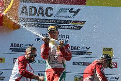 Mick Schumacher auf dem Podium beim ADAC Formel 4 Rennen am Nürburgring / 070816<br /> <br /> *** ADAC Formula 4 2016 on August 7, 2016 at Nurburgring, Germany ***