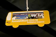 Roma 3 Dicembre 2015<br /> Giubileo, i nuovi biglietti dell'Atac per i pellegrini.<br /> Presentati i biglietti Atac da collezione per il Giubileo, con una serie speciale di quattro BIT raffiguranti Papa Francesco e contenuti in una custodia souvenir. Presentata anche  anche la RomeJubilee, la card in tiratura limitata con l'immagine del Pontefice,che consentir&agrave; agli acquirenti di caricare tutta l&rsquo;offerta turistica di Atac, dal ticket giornaliero a quello settimanale.<br /> Rome December 3, 2015<br /> Jubilee, the new ATAC tickets for pilgrims.<br /> Presented  collectible tickets Atac  (Tramways Company and Coach of the Municipality of Rome) for the Jubilee, with a special series of four BIT depicting Pope Francis and contained in a case souvenirs. Also presented also RomeJubilee, the limited edition card with the image of the Pope, which allow buyers to load all the tourist offer of Atac, from ticket daily to weekly.