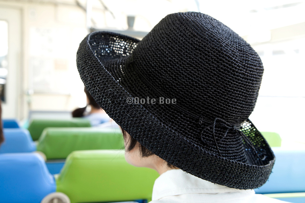 Japanese woman with large black had