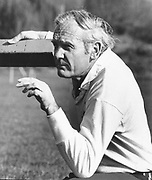Bill Freeman at a Rugby Coaching School on Taumarunui Domain on 30 May 1976.<br /> Copyright photo: Ron Cooke / www.photosport.co.nz