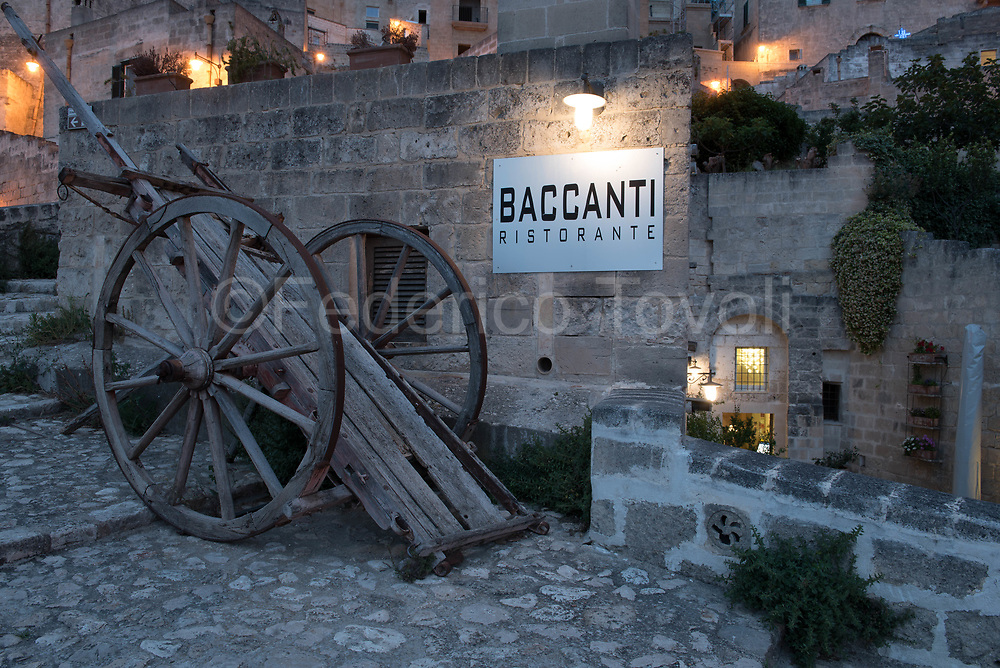 "Exterior of the restaurant ""I Baccanti"" one of the most exclusive of the city"