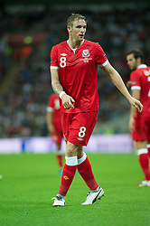 LONDON, ENGLAND - Tuesday, September 6, 2011: Wales' Jack Collison in action against England during the UEFA Euro 2012 Qualifying Group G match at Wembley Stadium. (Pic by Gareth Davies/Propaganda)
