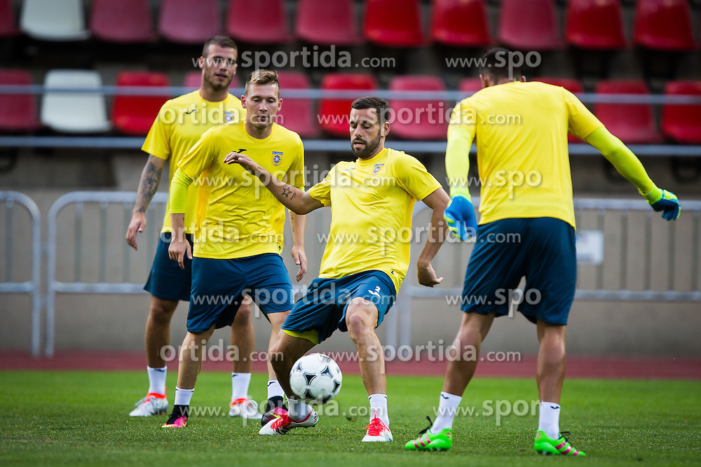 Alvaro Brachi of NK Domzale during practice session before football match between NK Domzale and FC Lusitanos Andorra in second leg of UEFA Europa league qualifications on July 6, 2016 in Andorra la Vella, Andorra. Photo by Ziga Zupan / Sportida