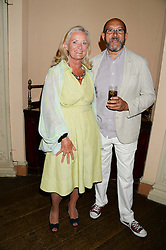 CLARISSA BALDWIN Chief Executive Officer of Dogs Trust and BRUCE OLDFIELD at the 6th Dogs Trust Honours held at Home House, Portman Square, London on 23rd July 2013.