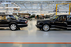 UK ENGLAND CREWE 5APR06 - Workers finish off cars that have been assembled at the production line at the Bentley Factory in Crewe.<br /> <br /> jre/Photo by Jiri Rezac <br /> <br /> © Jiri Rezac 2006