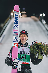 28.02.2020, Salpausselkae Hill, Lahti, FIN, FIS Weltcup Ski Sprung, Herren, Siegerehrung, im Bild 3. Platz Daniel Andre Tande (NOR) // 3rd placed Daniel Andre Tande of Norway during the winner ceremony for the men's FIS Ski Jumping World Cup at the Salpausselkae Hill in Lahti, Finland on 2020/02/28. EXPA Pictures © 2020, PhotoCredit: EXPA/ JFK