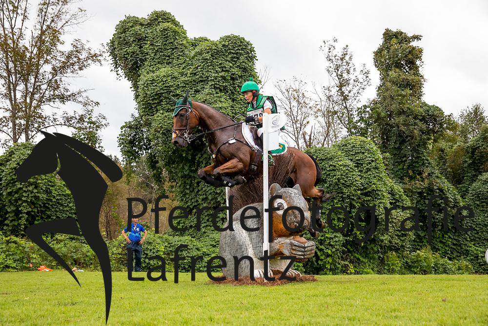 ENNIS Sarah (IRL), Horseware Stellor Rebound<br /> Tryon - FEI World Equestrian Games™ 2018<br /> Vielseitigkeit Teilprüfung Gelände/Cross-Country Team- und Einzelwertung<br /> 15. September 2018<br /> © www.sportfotos-lafrentz.de/Stefan Lafrentz