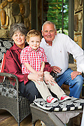 Photography of patient Jimi with Grandparents Kirk and CC at their home in Eureka Springs, Arkansas.<br /> <br /> Photo by Wesley Hitt 2015