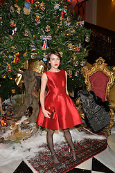 ELLA CATLIFF at a party to celebrate the unveiling of the 2014 Claridge's Christmas tree by Dolce & Gabbana at Claridge's, Brook Street, London on 19th November 2014.