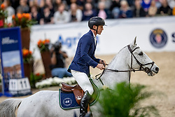 FREDRICSON Peder (SWE), Catch Me Not S<br /> Göteborg - Gothenburg Horse Show 2019 <br /> Longines FEI World Cup™ Jumping Final III<br /> Int. jumping competition over two rounds not against the clock with jump-off in case of point egality (1.50 - 1.60 m)<br /> Longines FEI Jumping World Cup™ Final and FEI Dressage World Cup™ Final<br /> 06. April 2019<br /> © www.sportfotos-lafrentz.de/Stefan Lafrentz