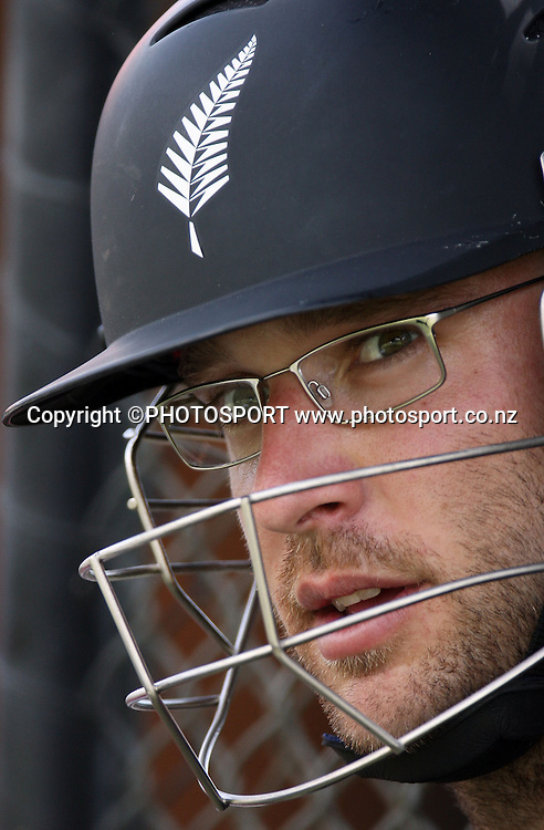 New Zealand captain Daniel Vettori.<br />New Zealand Black Caps cricket training session prior to the first Chappell Hadlee Trophy match. Adelaide Oval, Adelaide, Australia. Thursday 13 December 2007.<br />Photo: Andrew Cornaga/PHOTOSPORT