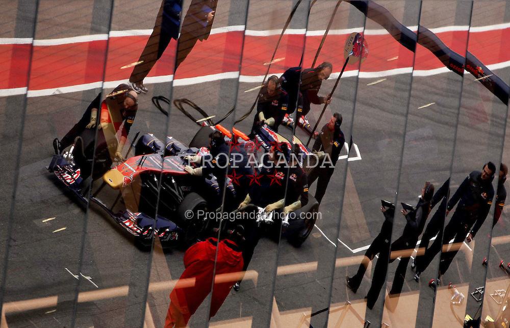 09.03.2011, Circuit de Catalunya, Barcelona, ESP, Formel 1 Test 4 2011,  im Bild Sebastien Buemi (SUI),  Scuderia Toro Rosso .EXPA Pictures © 2011, PhotoCredit: EXPA/ nph/  Poleposition.at       ****** only for AUT ans SLO *******
