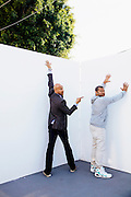 Comedians Keegan-Michael Key and Jordan Peele pose for a portrait at Quixote studios in Los Angeles, California in promotion of their new film 'Keanu' April 3, 2016.<br /> <br /> Photo Credit: Brinson+Banks