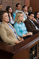 Jurors in courtroom
