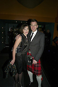 Mr. and Mrs.( Eve)  Ewan McGregor attend Not Another Burns night. St. Martin's Lane Hotel.  Monday 3rd March 2008.<br />