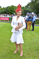 Amanda Elliott Chairman of the Victoria Racing Club at the Qatar Goodwood Festival, Goodwood, West Sussex England. 3 August 2017.<br /> Photo by Dominic O'Neill/SilverHub 0203 174 1069 sales@silverhubmedia.com