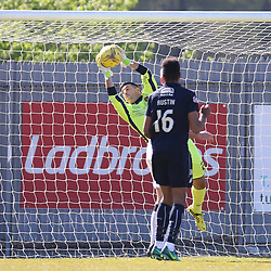 Alan Martin makes another great save during the Dumbarton v Falkirk Scottish Championship 06 May 2017<br /> <br /> <br /> <br /> <br /> <br /> (c) Andy Scott | SportPix.org.uk