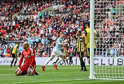 Kevin De Bruyne of Manchester City celebrates scoring to make it 3-0 - Mandatory by-line: Arron Gent/JMP - 18/05/2019 - FOOTBALL - Wembley Stadium - London, England - Manchester City v Watford - Emirates FA Cup Final