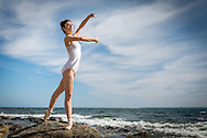 Dancer Charlotte Lanning photographed on Plum Island, MA