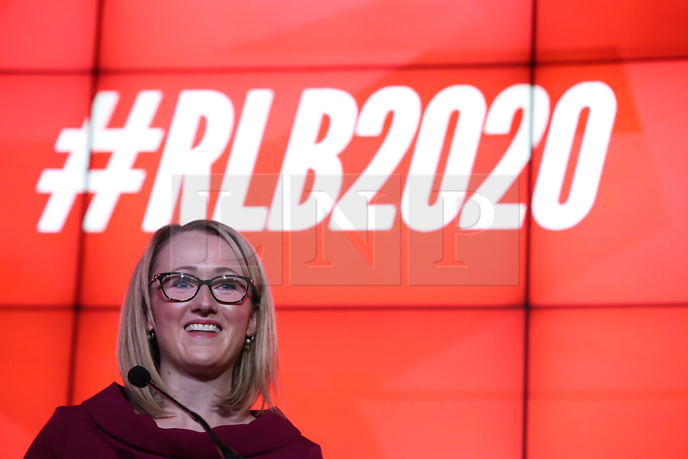 © Licensed to London News Pictures. 17/01/2020. Manchester, UK. Salford & Eccles MP Rebecca Long-Bailey launches her campaign to succeed Jeremy Corbyn in the race for Labour Party leadership , at an event in the Museum of Science and Industry in Manchester City Centre . Photo credit: Joel Goodman/LNP