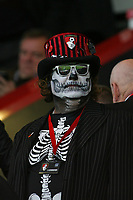 Football - 2017 / 2018 Premier League - AFC Bournemouth vs. Chelsea<br /> <br /> A Bournemouth fan in halloween face paint before kick off at Dean Court (Vitality Stadium) Bournemouth <br /> <br /> COLORSPORT/SHAUN BOGGUST