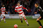 Doncaster Rovers midfielder, on loan from Everton, Conor Grant  during the The FA Cup third round match between Doncaster Rovers and Stoke City at the Keepmoat Stadium, Doncaster, England on 9 January 2016. Photo by Simon Davies.