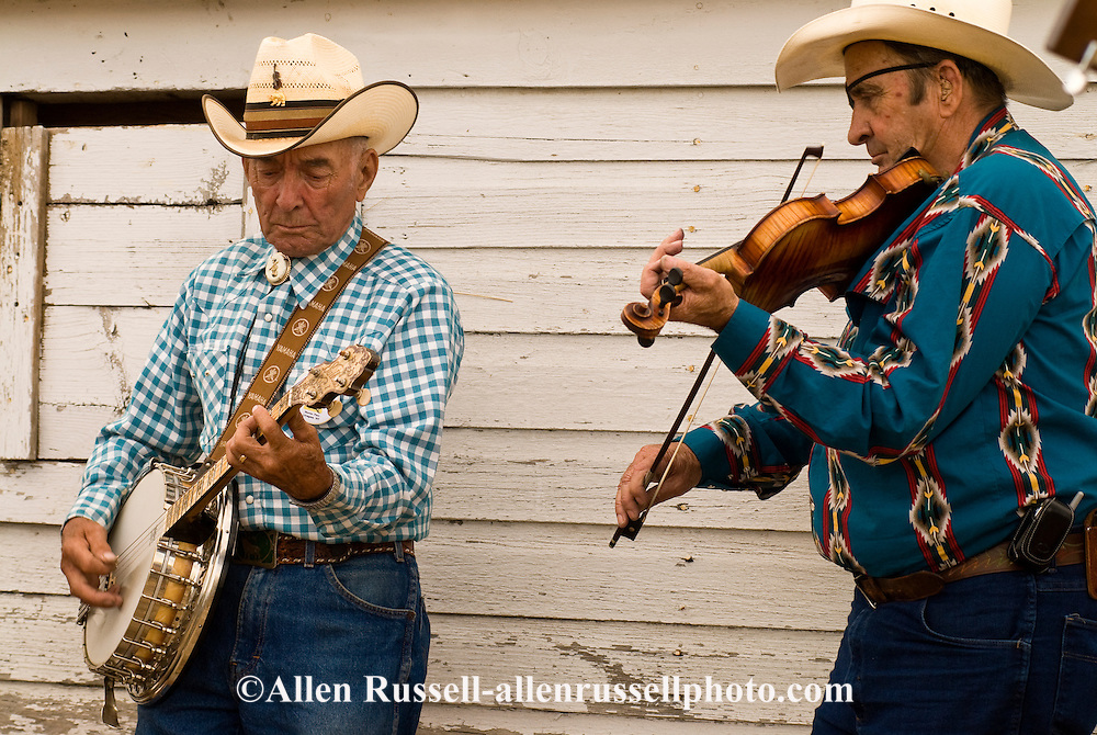 Montana Old Time Fiddlers Picnic, Livingston Montana, banjo and fiddle, <br />