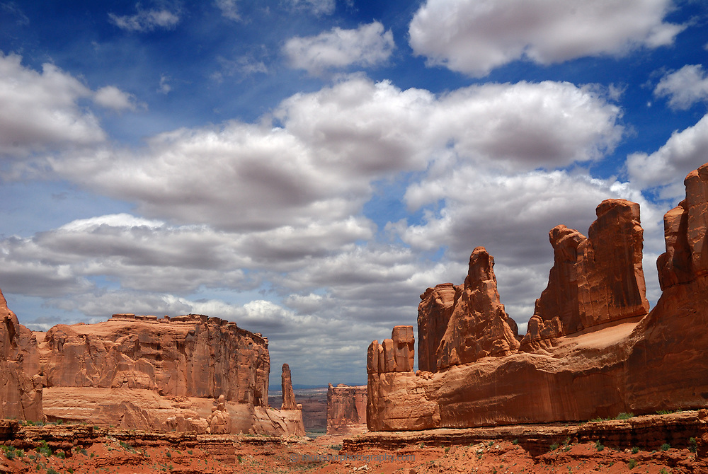 This is Park Avenue in Arches National Park. I waited several hours until the cloud formations were just right.