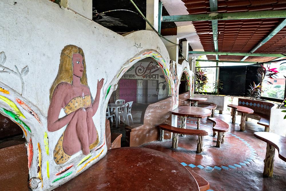 A bar and restaurant along the Papaloapan River in Santiago Tuxtla, Veracruz, Mexico.