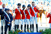 World Champion Nations Showjumping Team USA<br /> FEI World Equestrian Games Tryon 2018<br /> © DigiShots