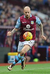 Alan Hutton of Aston Villa - Mandatory byline: Dougie Allward/JMP - 13/12/2015 - Football - Villa Park - Birmingham, England - Aston Villa v Arsenal - Barclays Premier League